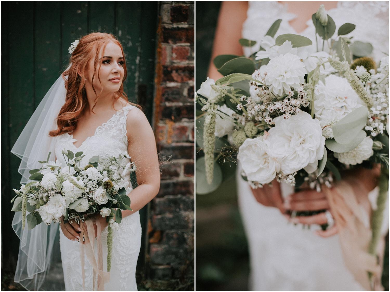 The bridal close up portrait