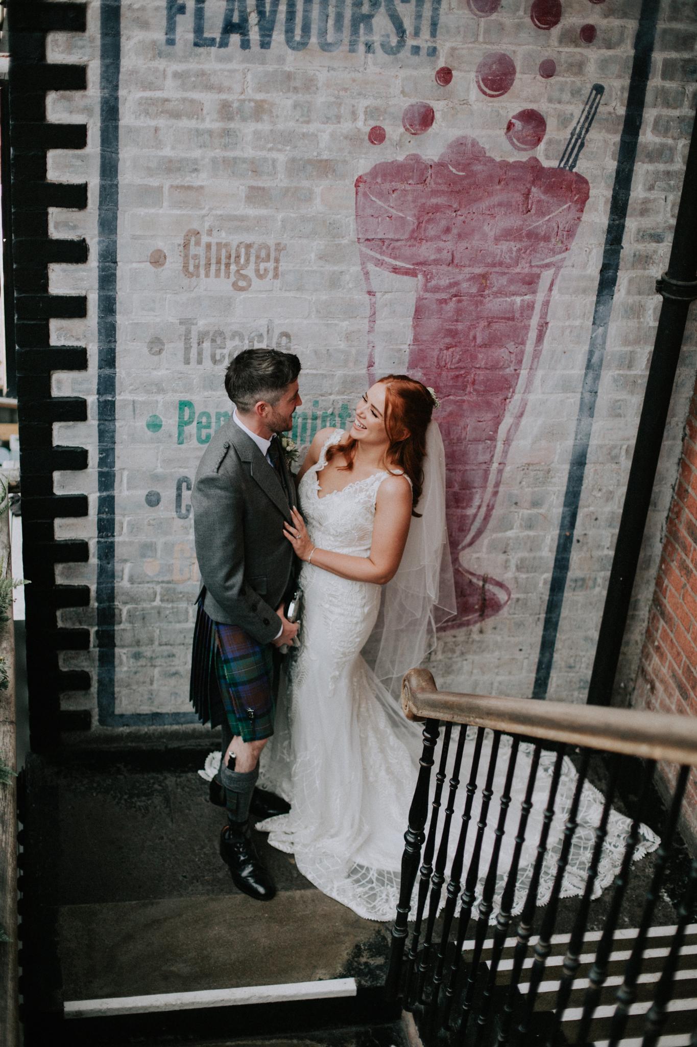 The couple shoot at Ashton Lane