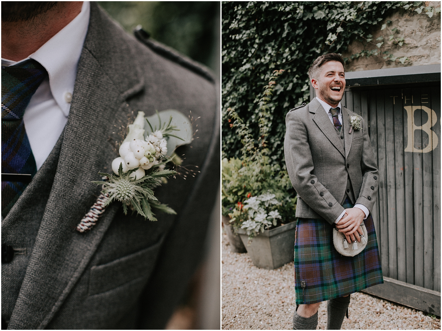 The groom's portrait at the Bothy