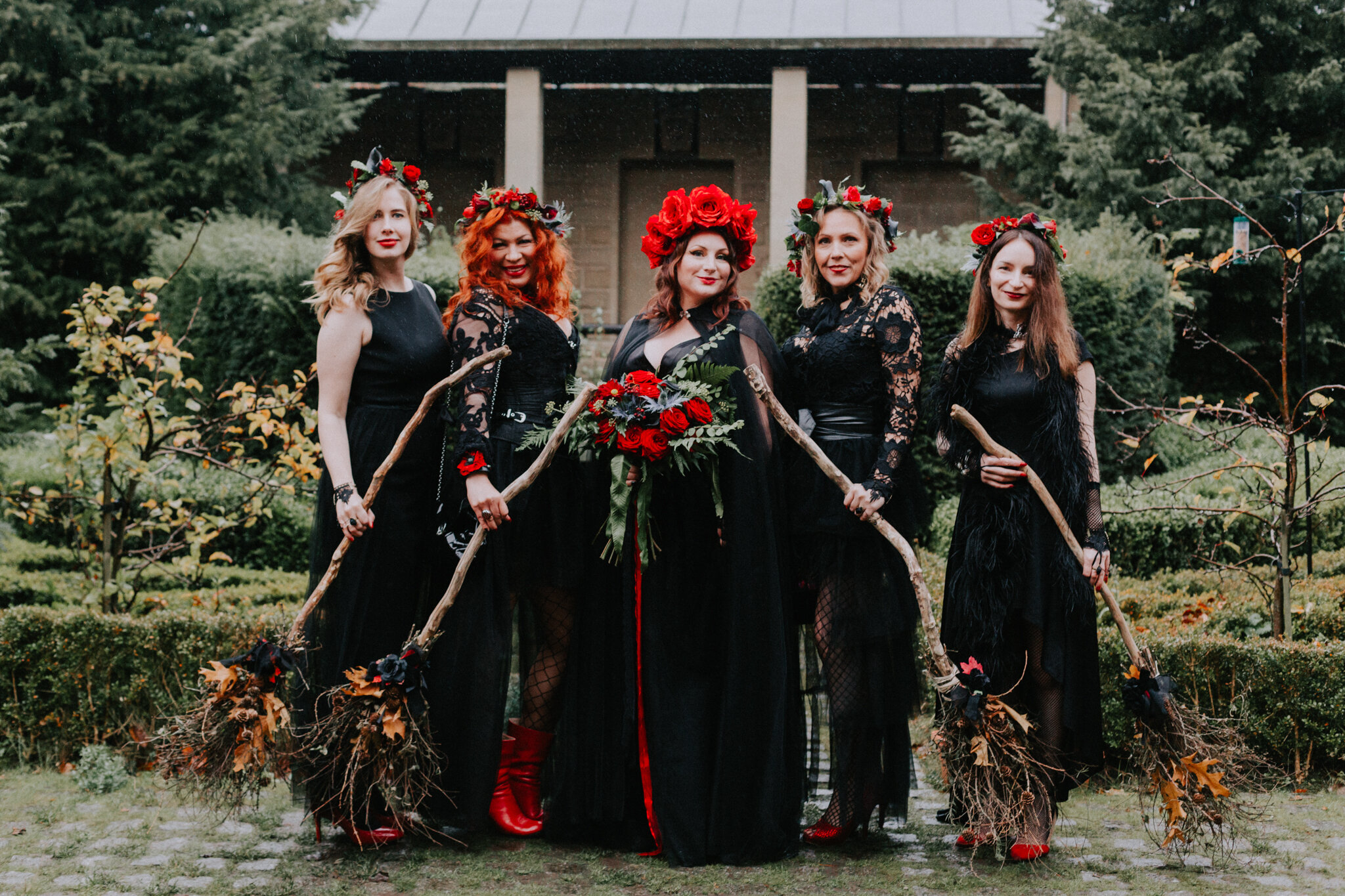 The alternative bridal witches party shot