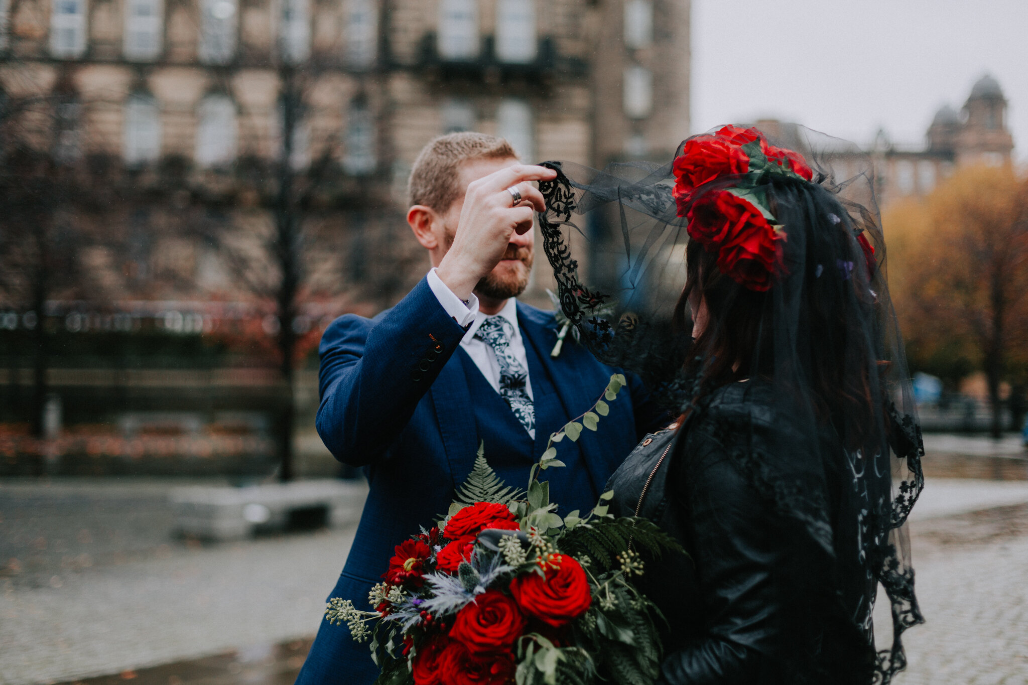 Halloween inspired Glasgow city wedding photographer