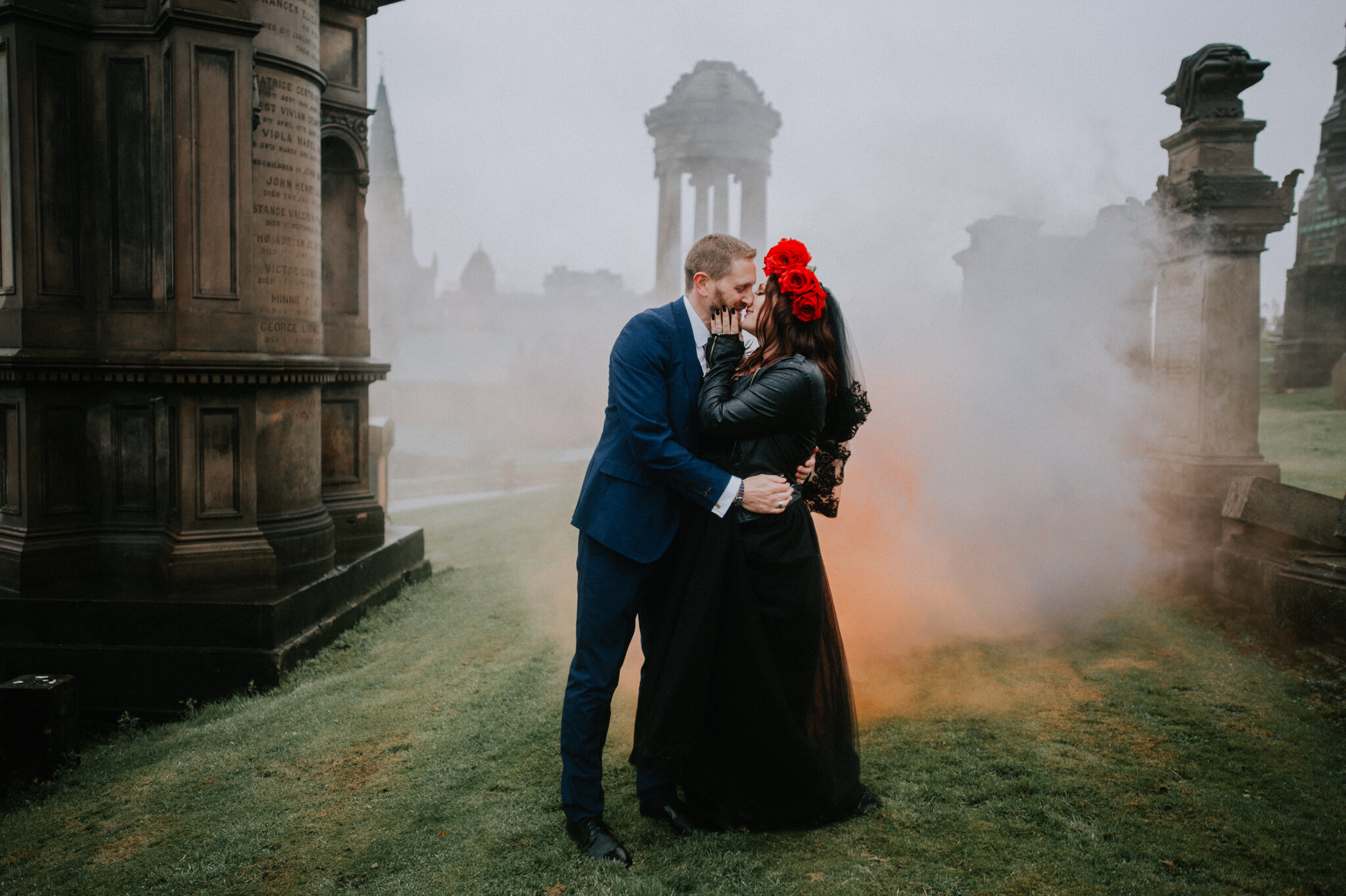 Alternative Scottish wedding photographer