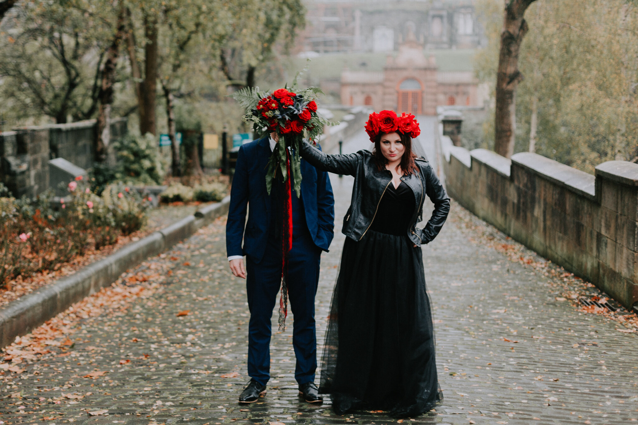 Alternative Quirky Halloween Glasgow City Wedding Photographer_J31A1053.jpg