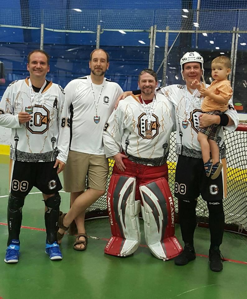 Greg Marotta, James Little (coach), Aaron Campisano and Kevin Clarke