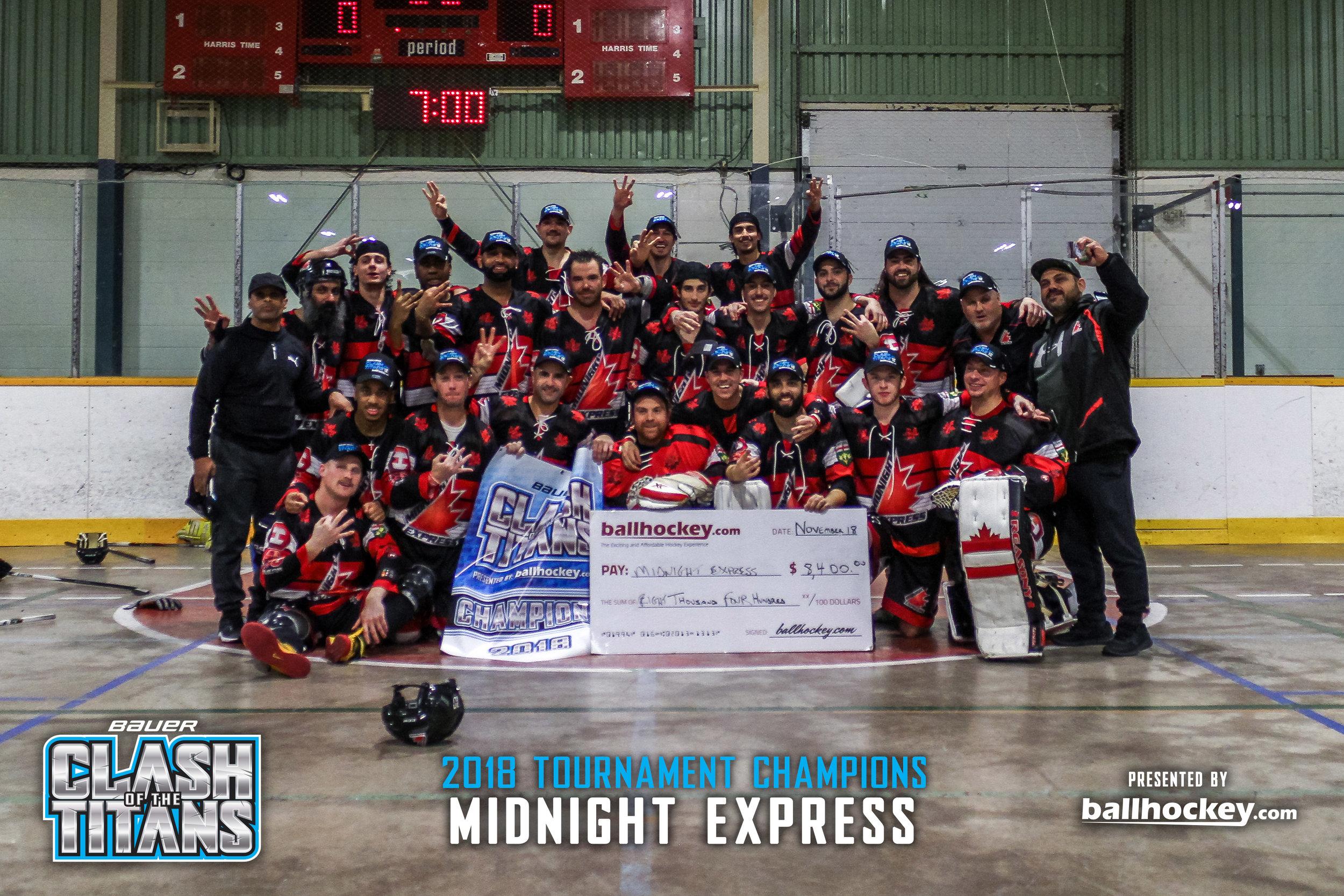 2018 Bauer Clash of the Titans Champions - Brampton Midnight Express
