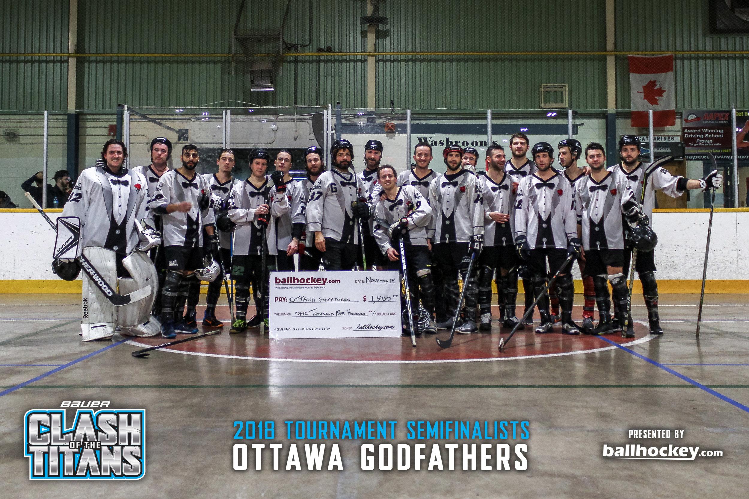 2018 Bauer Clash of the Titans Semifinalist - Ottawa Godfathers