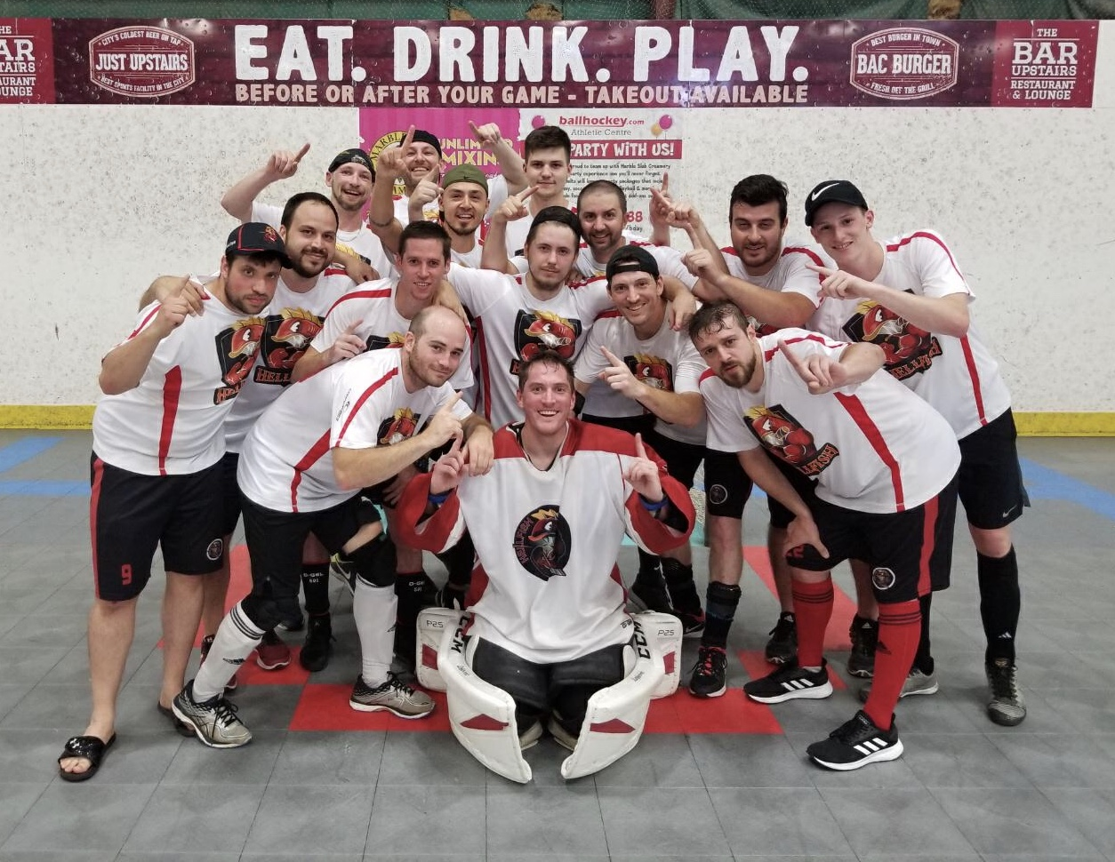 Hamilton Hellfish, Men's D Division Champions, Gateway to the World Outdoor Ball Hockey Championships