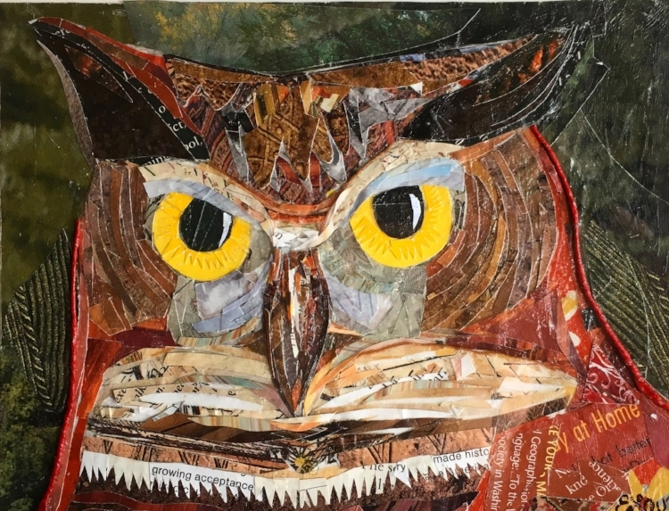 A Wise Owl was purchased as a gift for a frined in 2017/ 5x7 inch