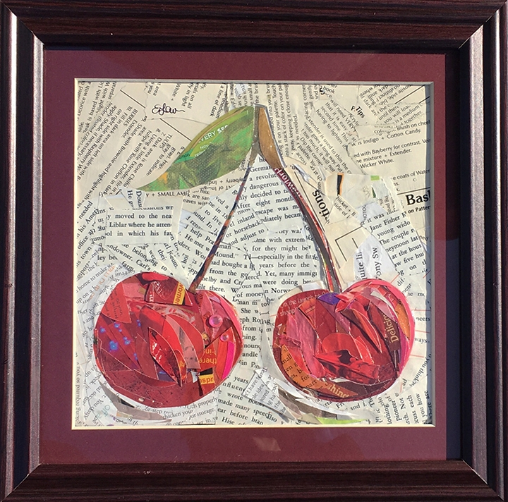 The Cherries Original was one of the designs used in the Lavalier's Berry Patch custom piece