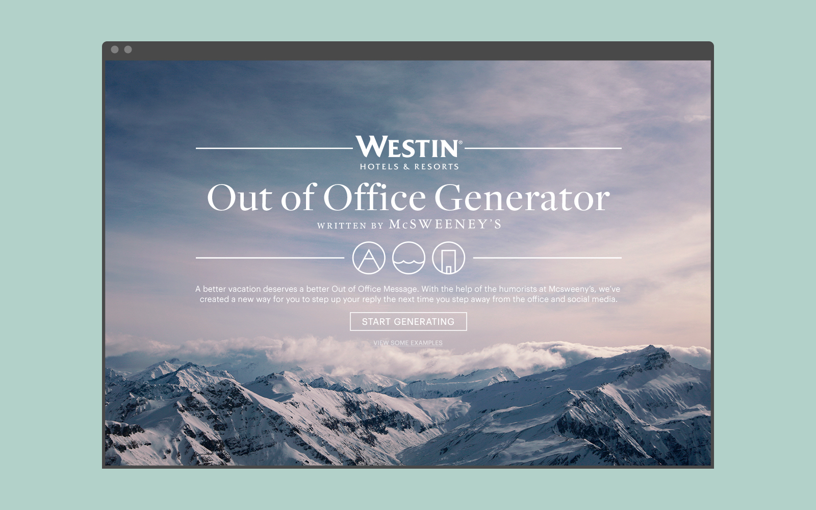 Westin Out of Office Generator — Crissy Fetcher