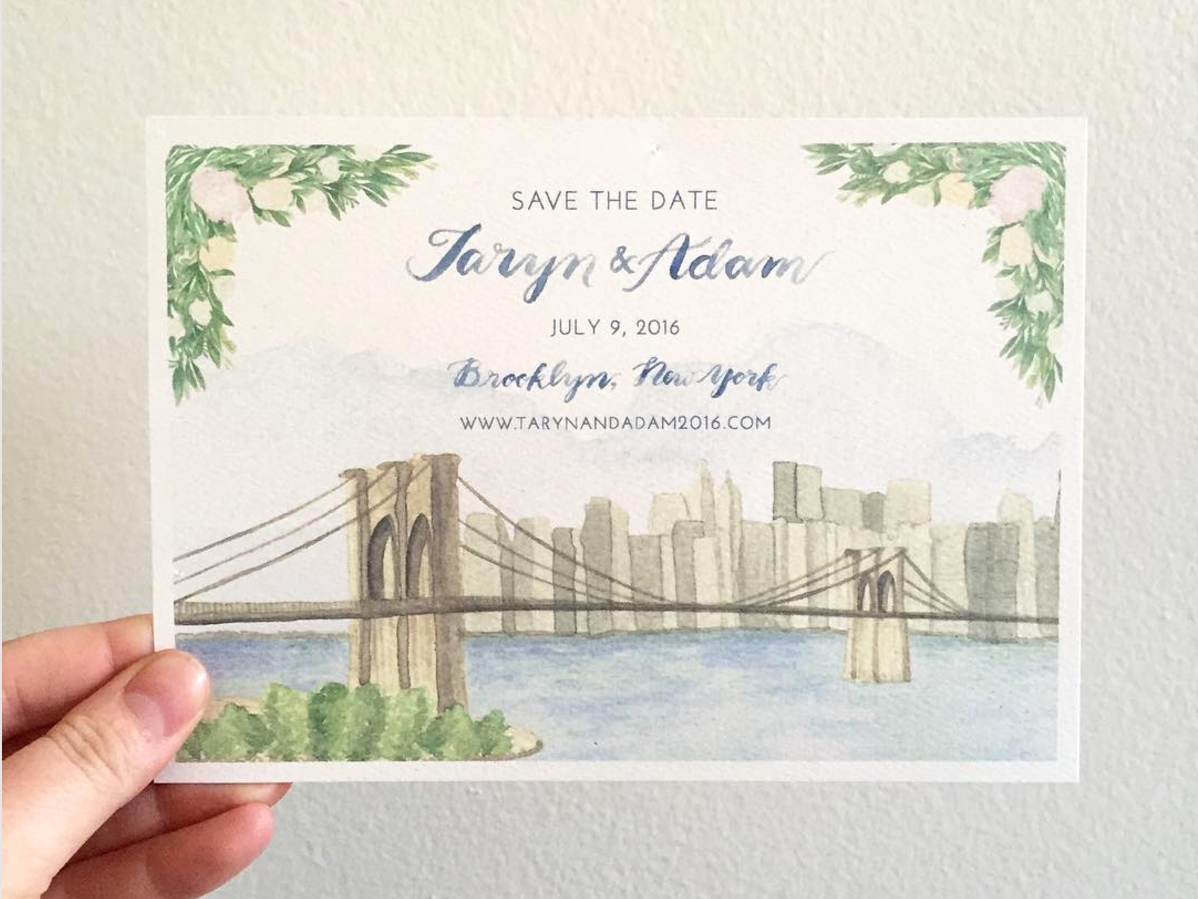 brooklyn-save-the-date-emily-rose-ink