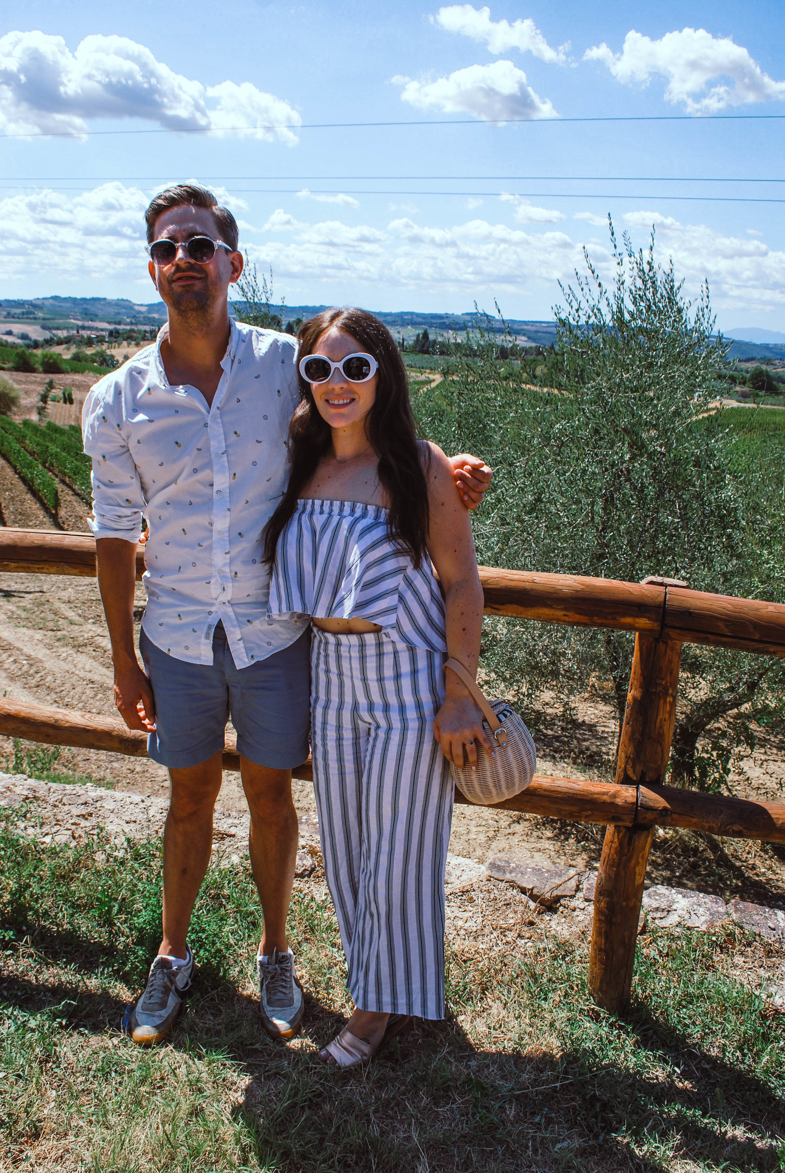 Me and my soon-to-be husband on the wine tour
