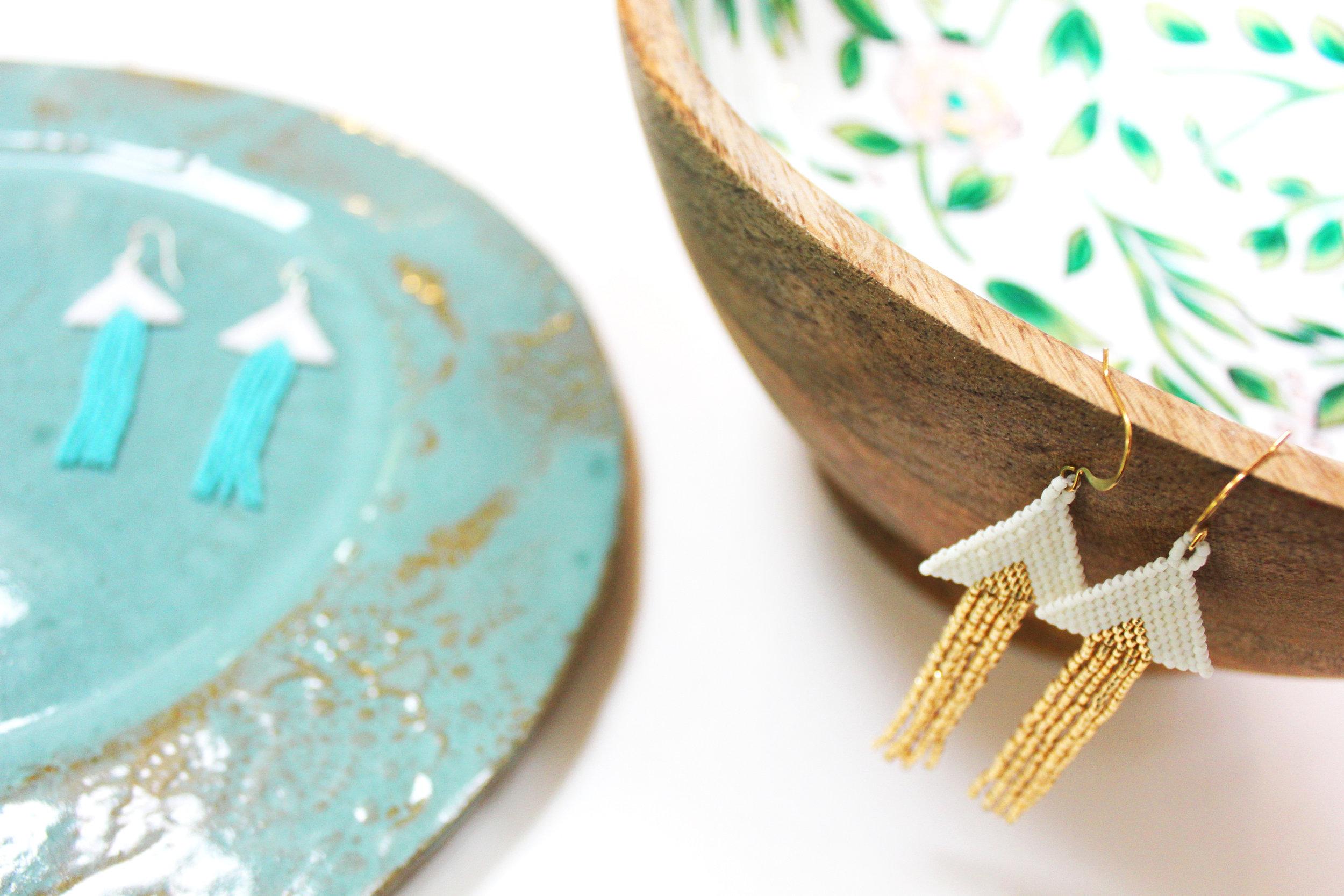 By Elly Jane Chival Jewelry handbeaded earrings