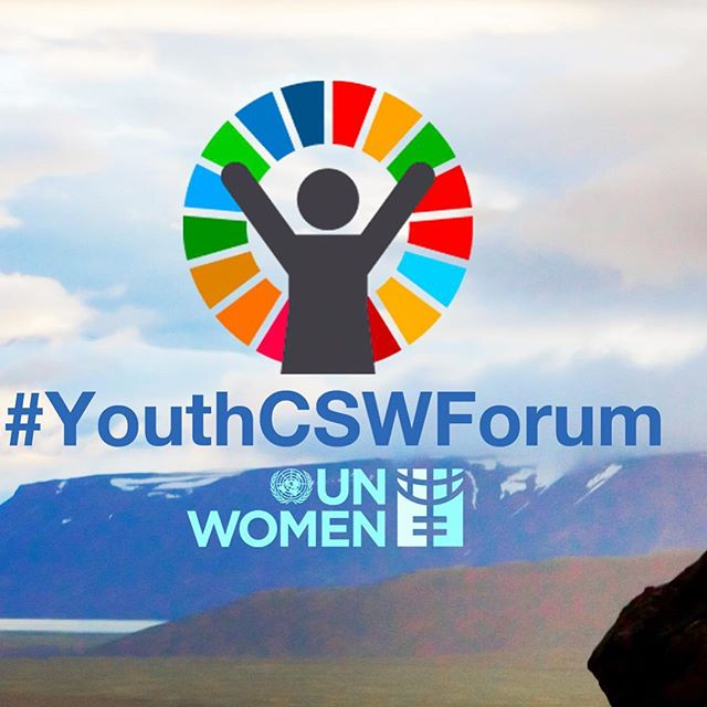 #youthCSWforum #genderequality starting on March 11 in New York at the United Nations