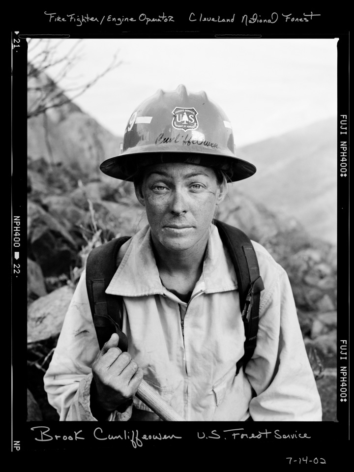 """This images is from Maggie Hallahan's solo exhibition """" State of Emergency"""" The California Endowment for the Arts sponsored 2001-2007. The exhibit, featuring 45 dramatic photographs of California disasters, a portrait series of emergency workers and with video story telling project. Maggie's training as a fire fighter with the California Governor's Office of Emergency Service enabled her to shoot behind-the-scenes images and video."""