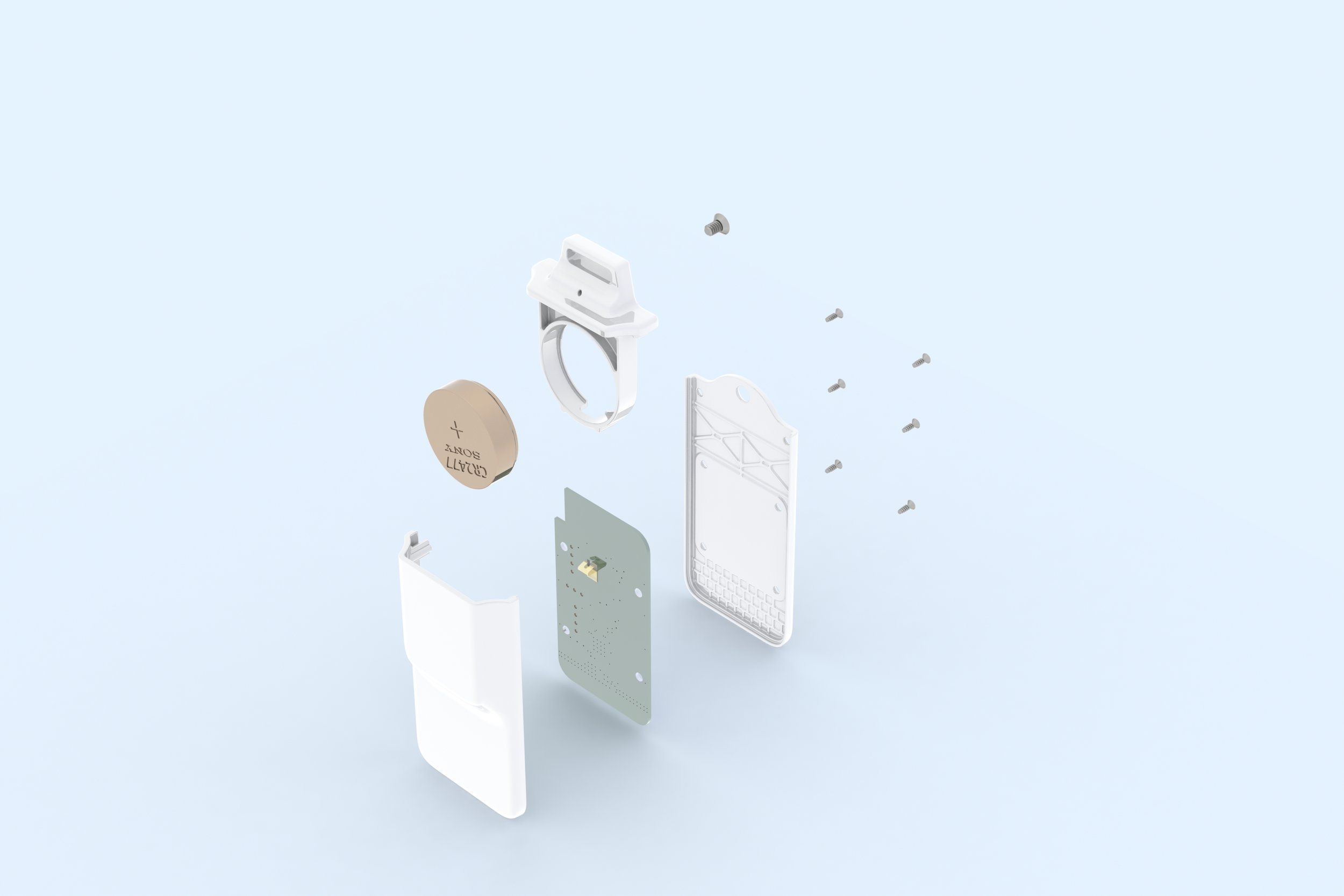 Badge - Exploded Everything - Front-Right-Top Isometric - Render.JPG