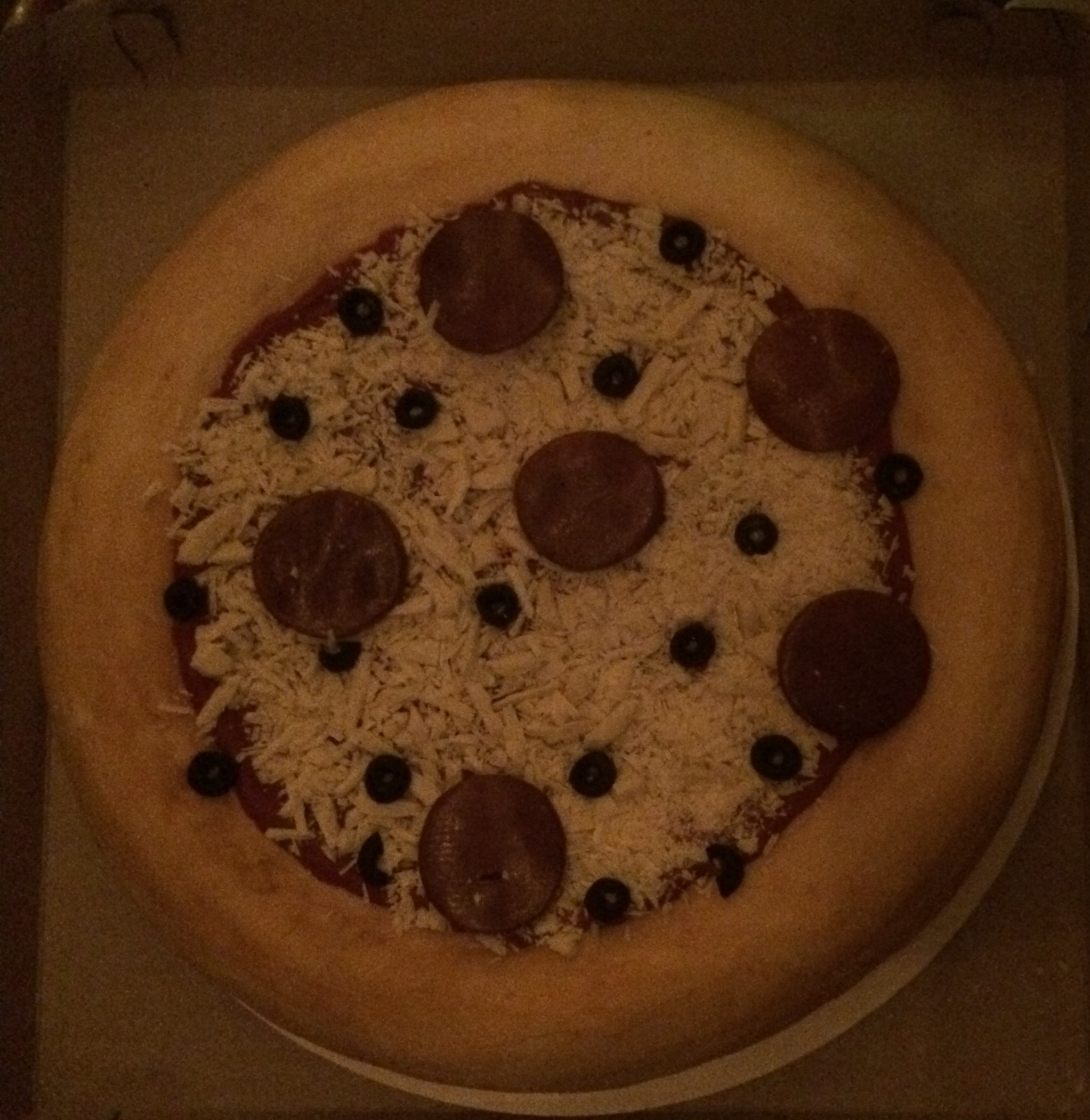 This is the pizza cake Alana made me for my birthday. No lie. Pizza.