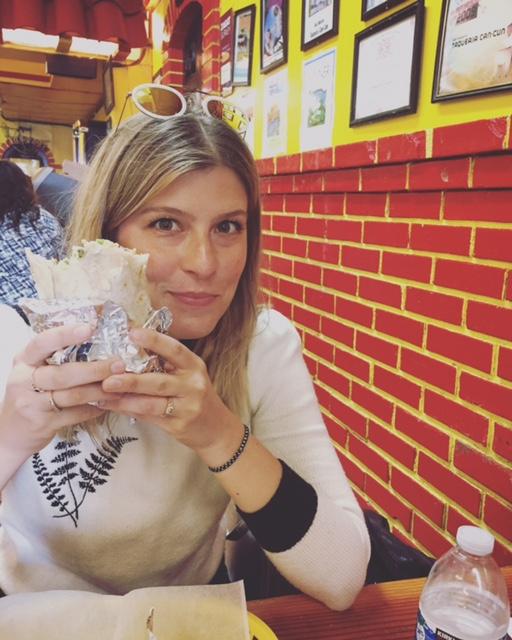 me eating a life-changing burrito