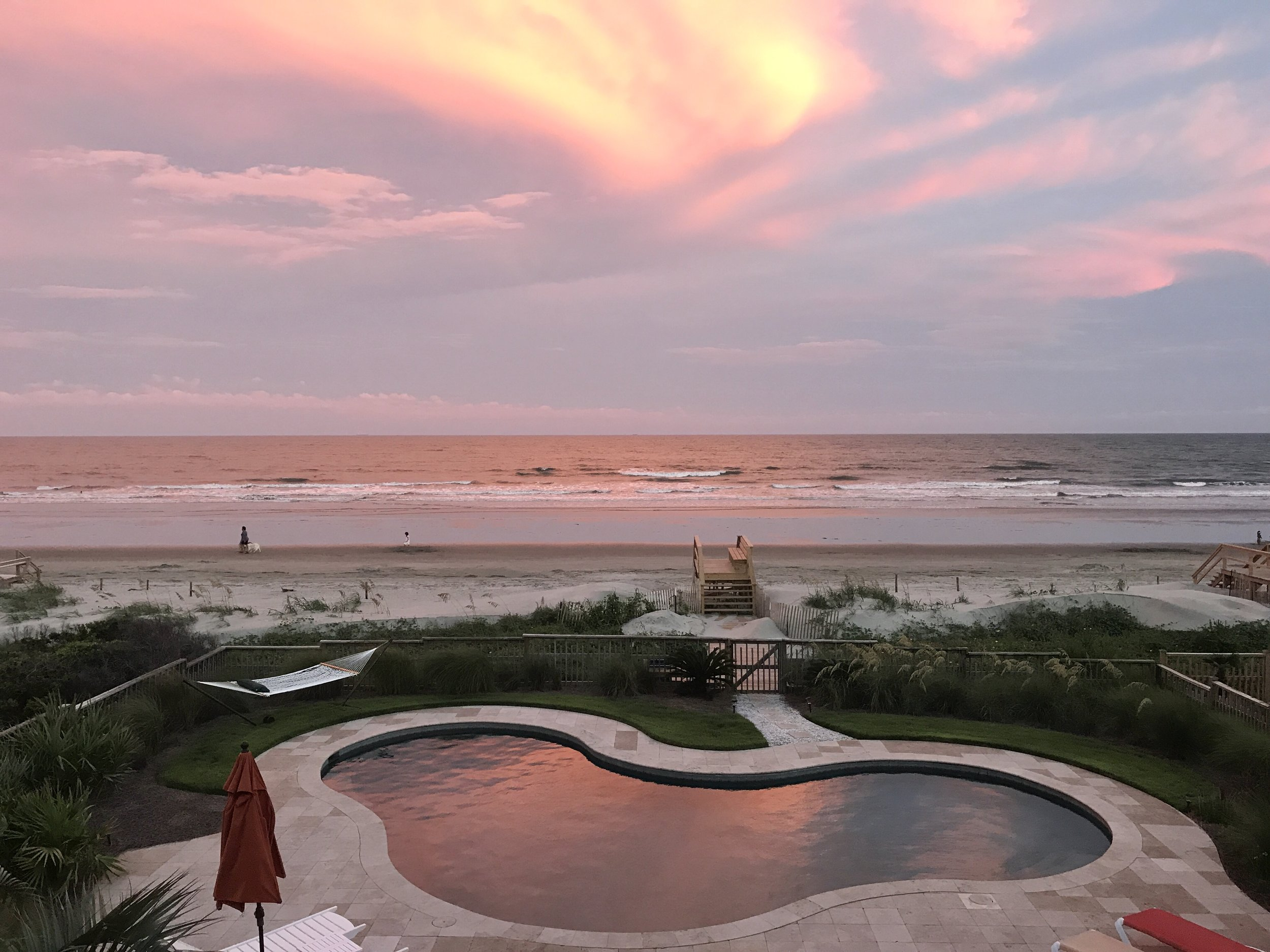 A view from the balcony of the beach house. It's my heaven.