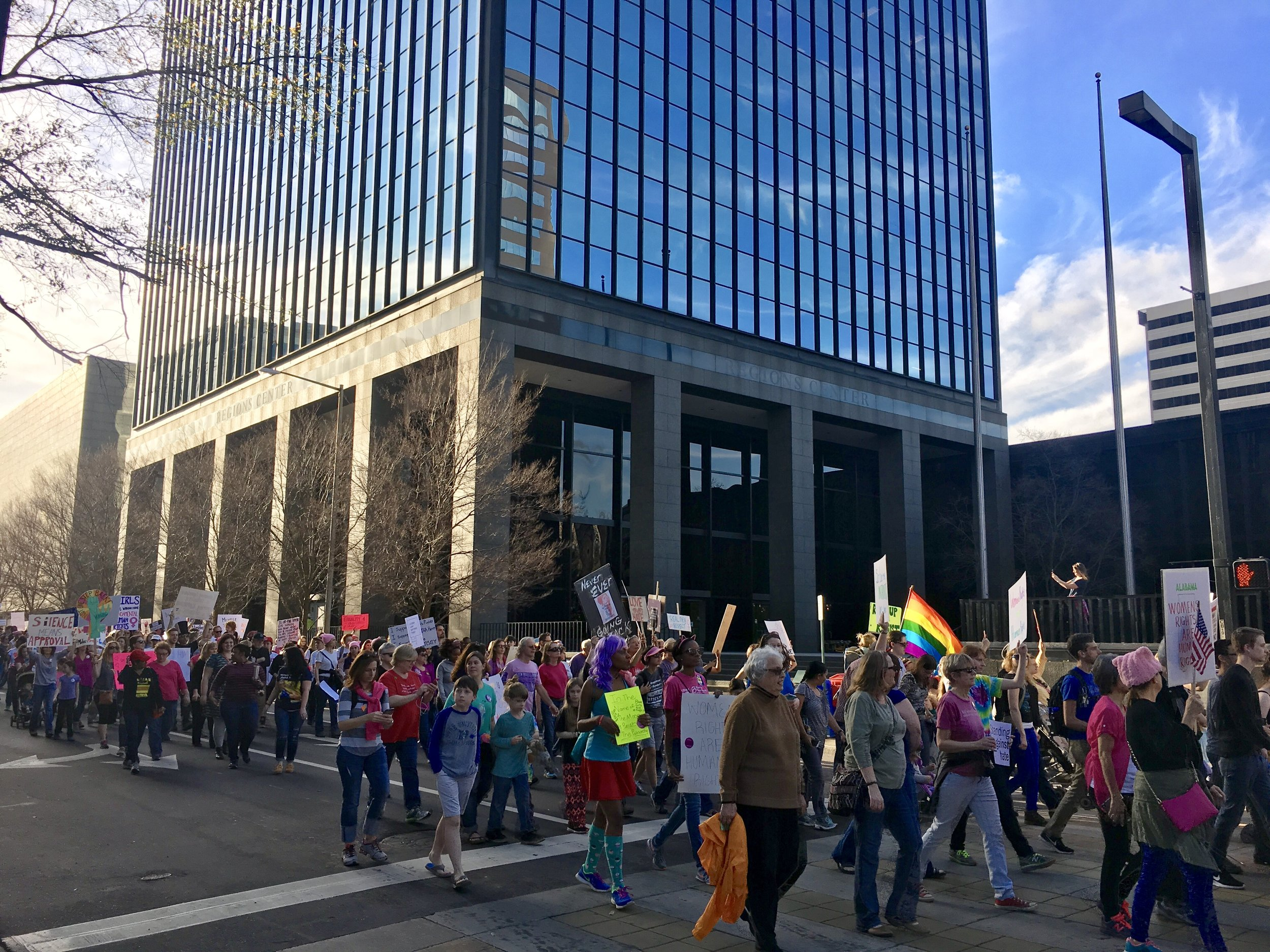 I was in Birmingham, AL, the day of the Women's March in January. It was an awesome turnout, and so inspiring to see the south show up in droves.