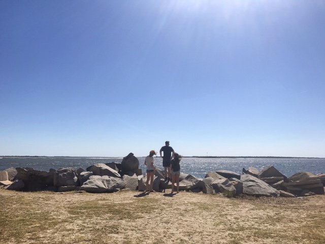 We biked to the end of Sullivan's Island to take in the scenery and the history