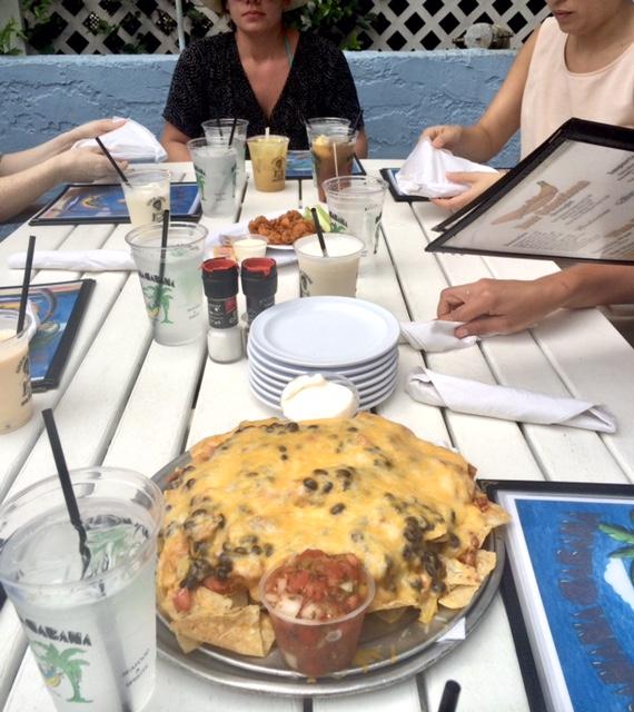 I warned you. The nachos at Banana Cabana.