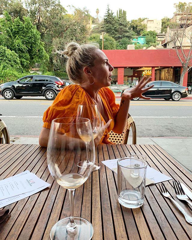 Orange wine with my little orange blossom @chelseeas 🧡