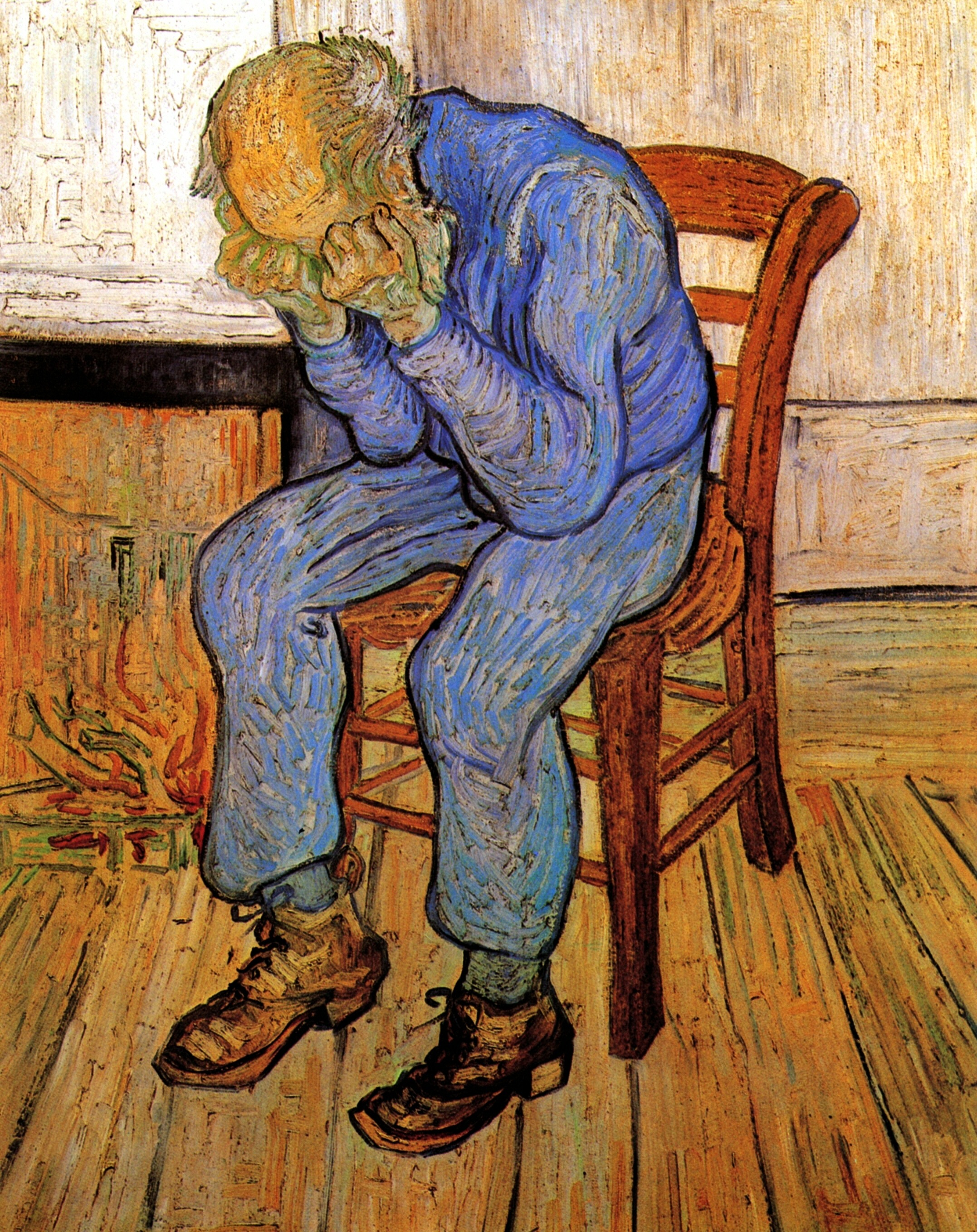 """""""Old Man in Sorrow on the Threshold of Eternity"""" by Vincent Van Gogh"""