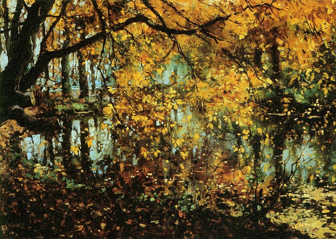 """""""Coesweerd in Laren in the Autumn"""" by Cornelis Creedenburgh"""