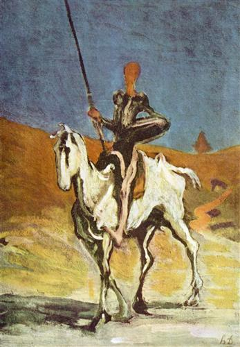Don Quizote and Sancho Panza by Honore Daumier