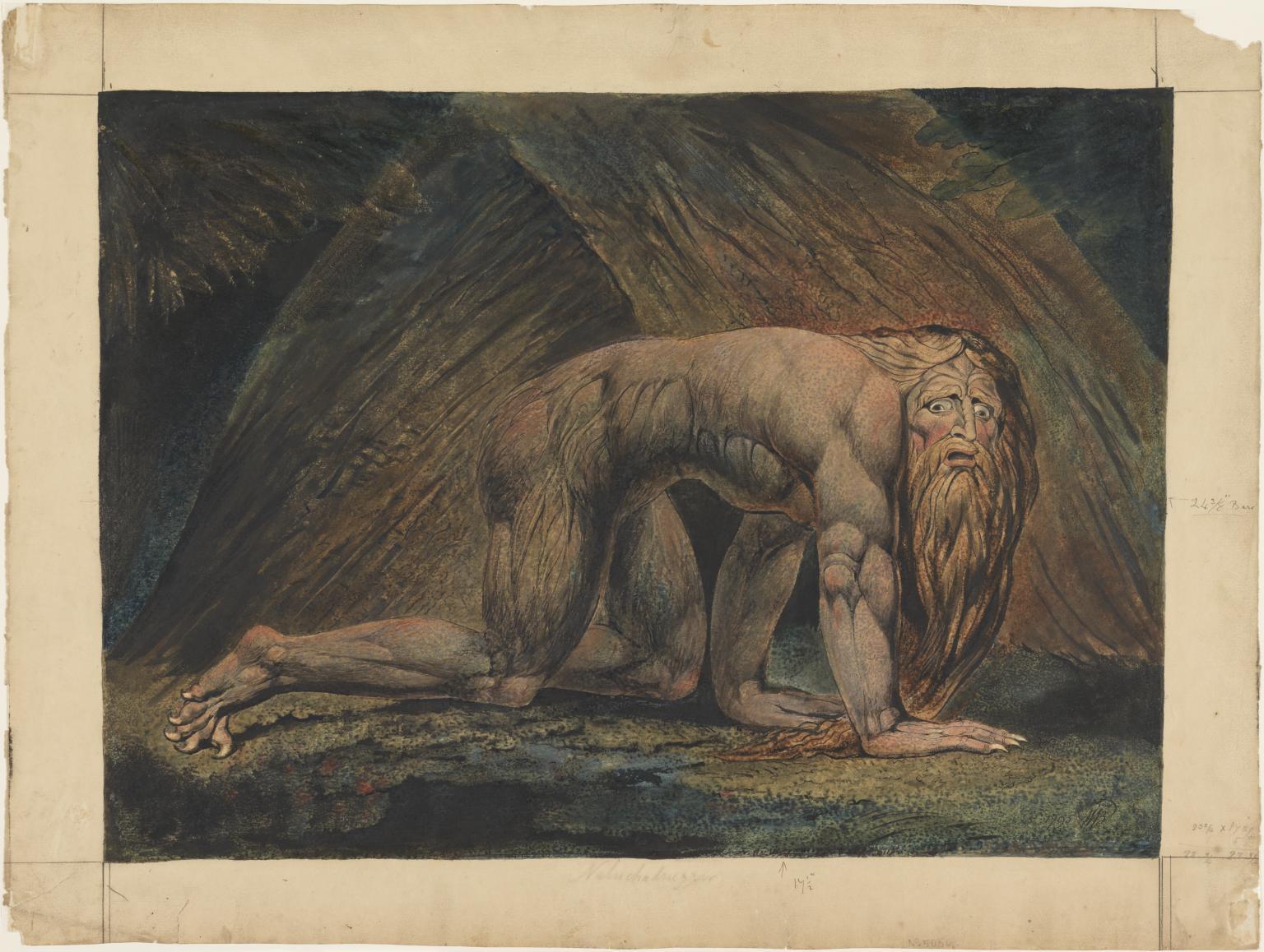 """""""Nebuchadnezzar"""" by William Blake"""