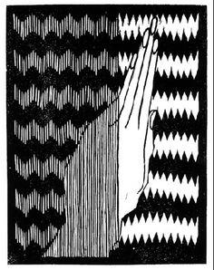 Hand with Fir Cone - M.C. Escher