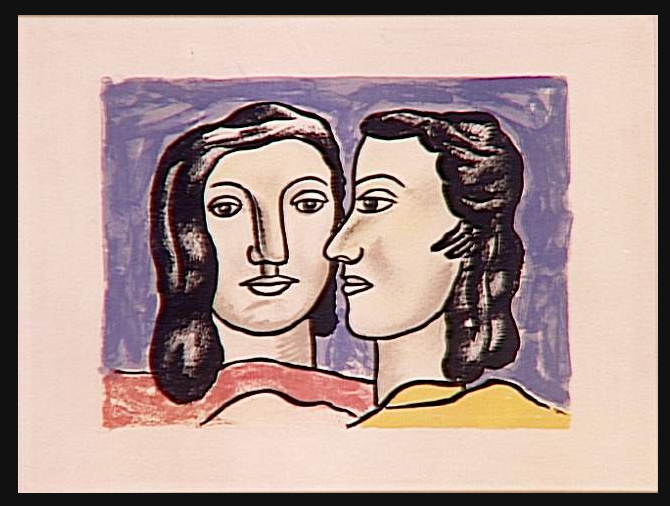 """""""The Two Faces"""" by Fernand Leger"""