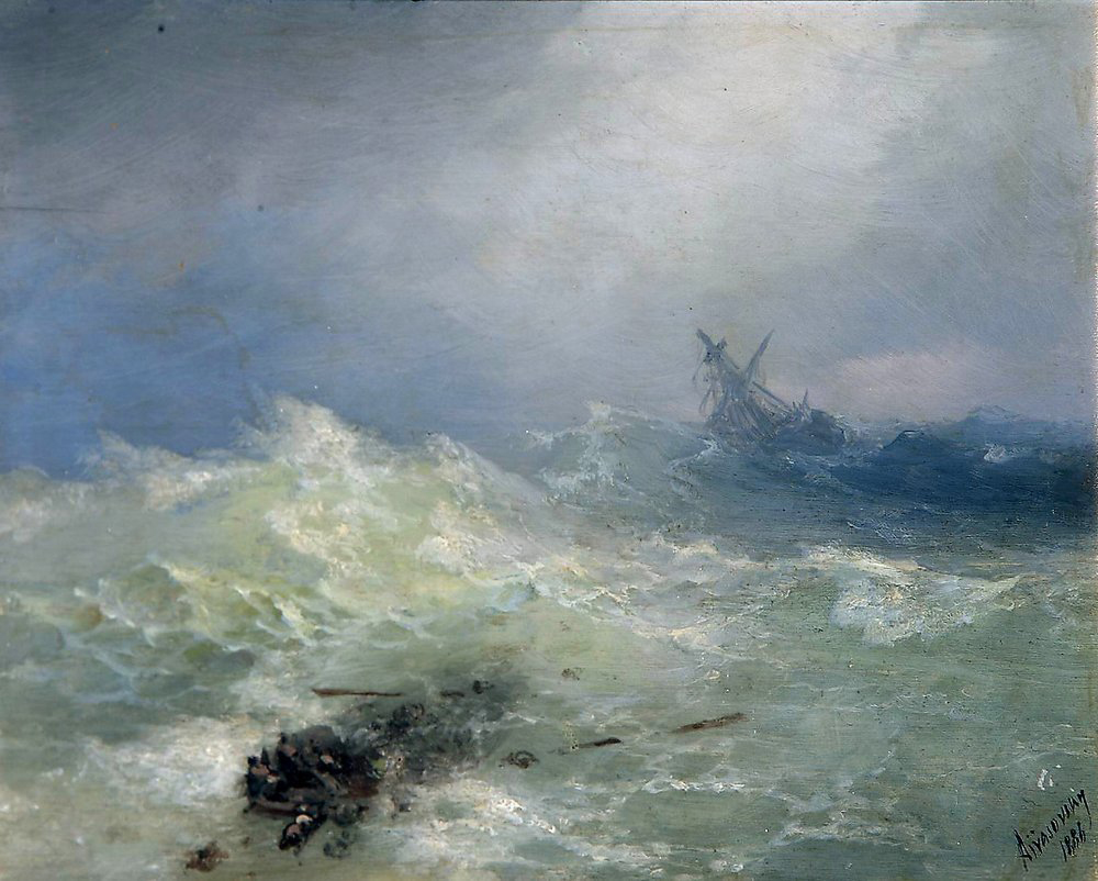 """The Tempest"" by Ivan Aivazovsky (1886)"