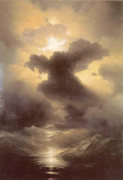 """The Creation"" by Ivan Aivozovsky (1841)"