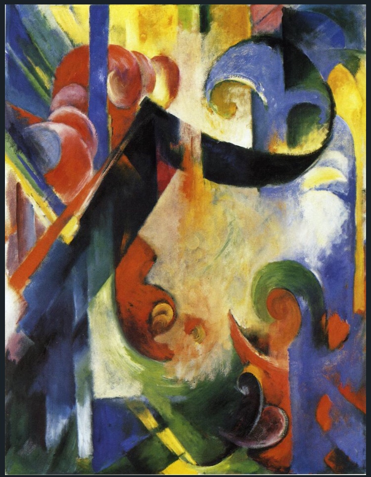Broken Forms by Franz Marc 1914