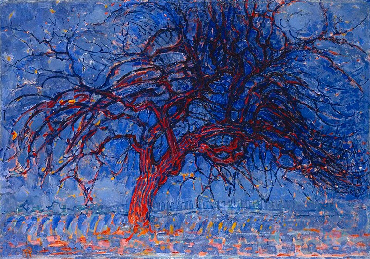 Evening; Red Tree by Mondrian