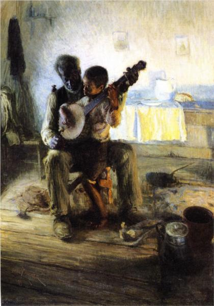 """""""The Banjo Lesson"""" by Henry Ossawa Tanner"""
