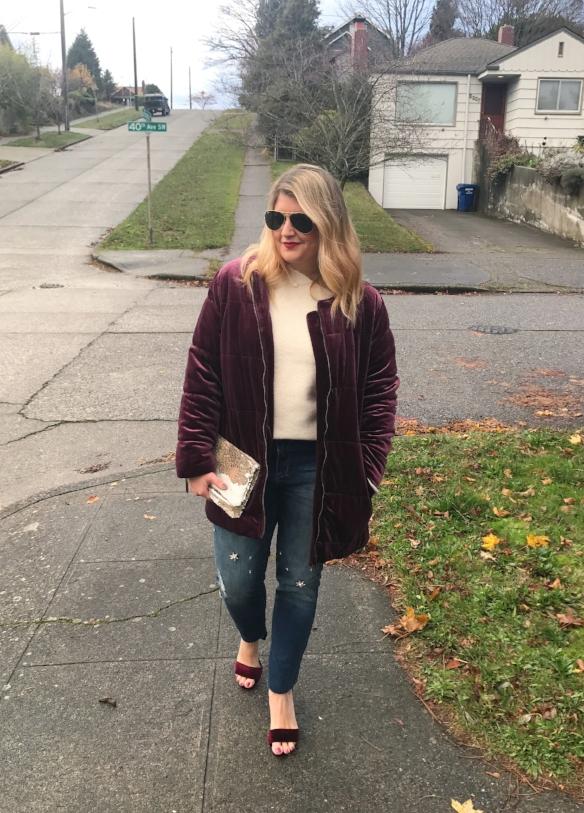 Velvet jacket & velvet shoes ... YES, PLEASE!