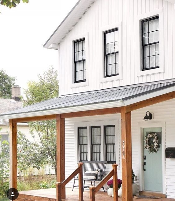 love this all wood porch