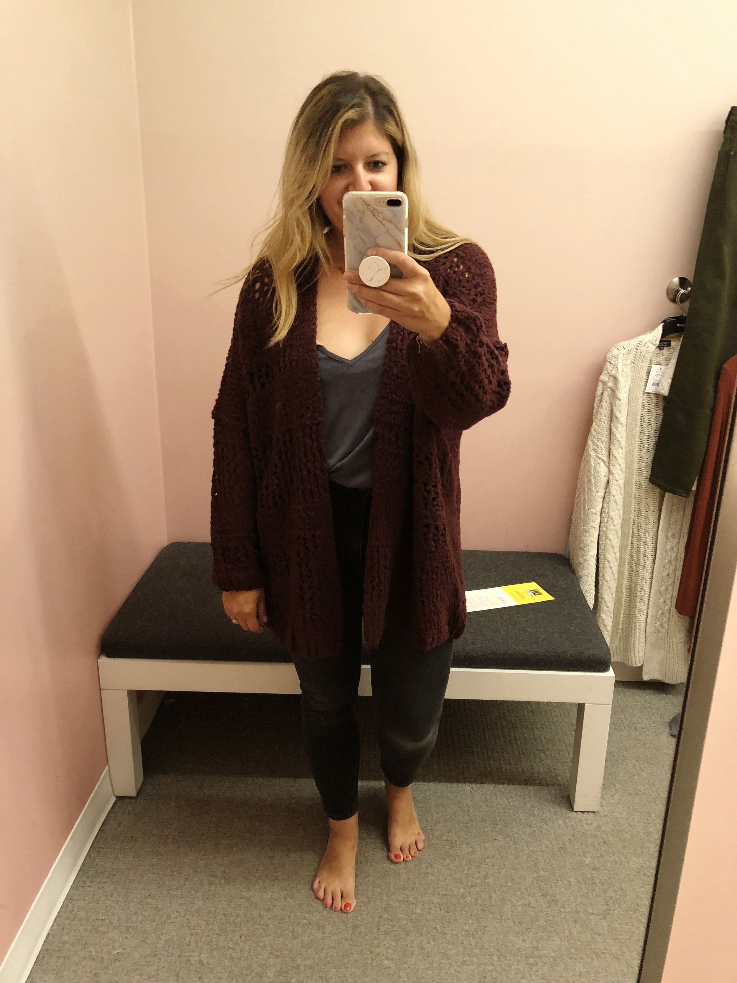Free people cardigan  // also comes in cream and black...it's the perfect everyday cardigan! Size down one.