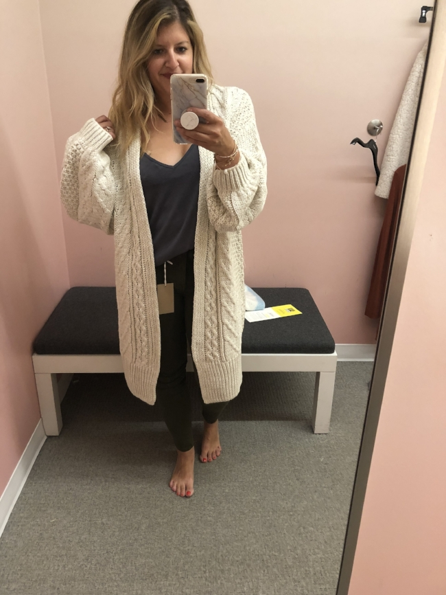 Topshop oversized cardigan  // Super cozy - size down 1-2 sizes. I would live in this all fall/winter.