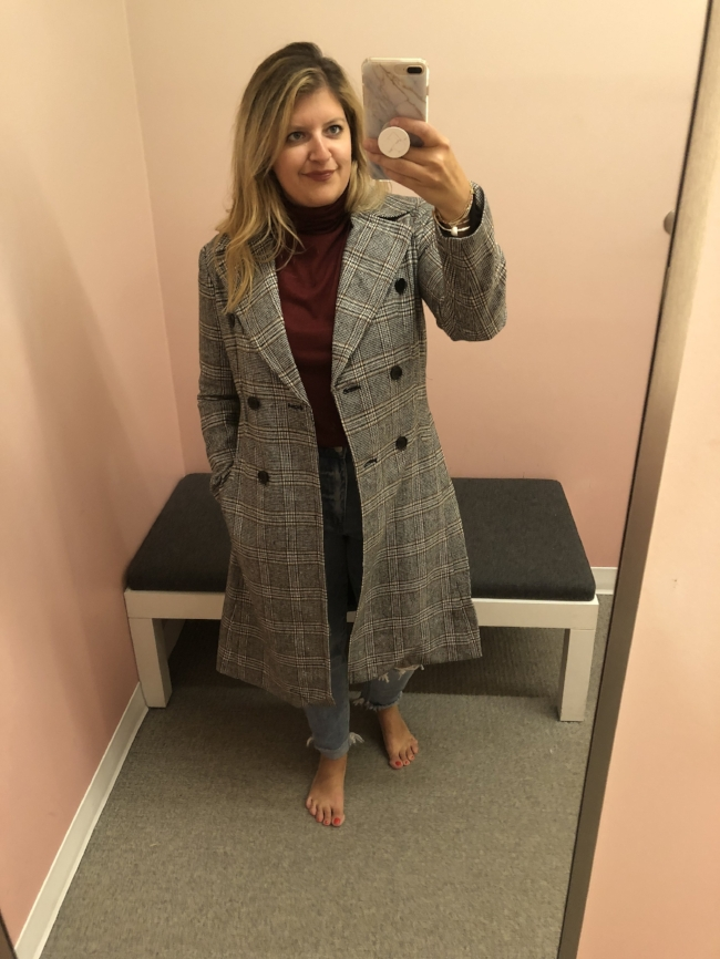 Plaid blazer midi coat  // this is probably one of my favorite purchases! It's lightweight and such a statement piece. Runs true to size.