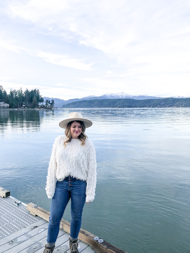 Fun fact: Wes and I took a little weekend getaway to Alderbrook Resort in mid January and as luck would have it, I just had just found out I was pregnant, so this photo will always have a special place in my heart.