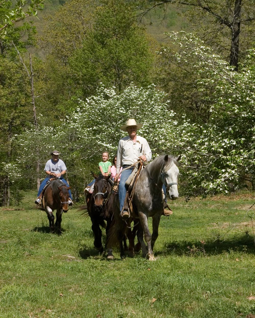 Horseback Riding at Rimrock Cove Ranch in the Spring