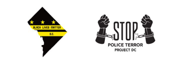 Black Lives Matter DC Logo and Stop Police Terror Project DC Logo