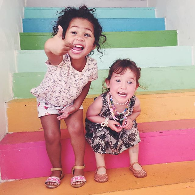 This is how we feel after yesterday! Hope all of the SF kiddos enjoy their new teeter totters! 🌈👍🏽💕 #orionelizabeth and #palomaloma representing the happiness.