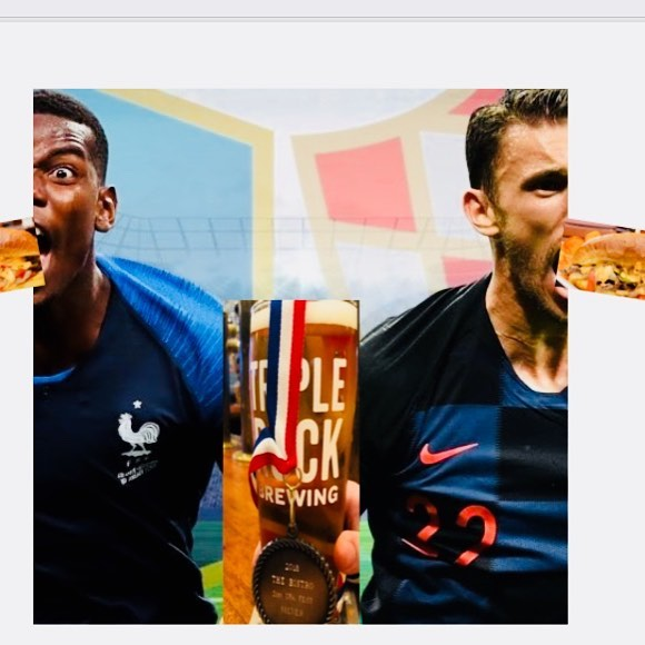 Tomorrow's gooooaaaalll it to get to Triple Rock at 8am to stuff your face like these players with our stellar chicken fried chicken breakfast sammie 🍳. No matter if you're rooting for 🇫🇷 or 🇭🇷, we can all get behind a Triple Rock United IPA to wash down a side of hangover curing potato hash. See you in the mañana! #sundayfunday #berkeley #craftbeer #awardwinning #beerforbreakfast #hairofthedog #worldcup #worldcup2018 #futbol #futbolesvida #francevscroatia
