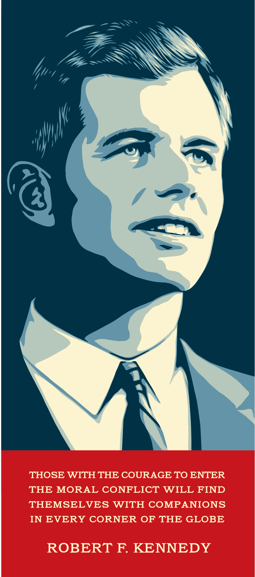 Shepard Fairey | Commisioned Portrait of Robert F. Kennedy