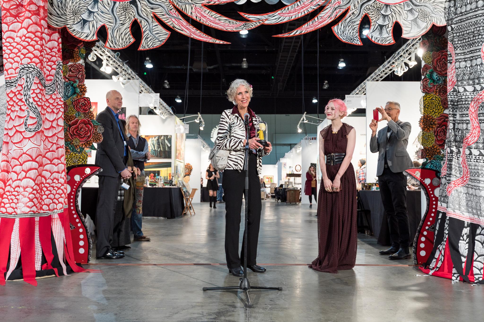 Jane Ulbrich accepts Margaret Keane Lifetime Achievement Award.jpg